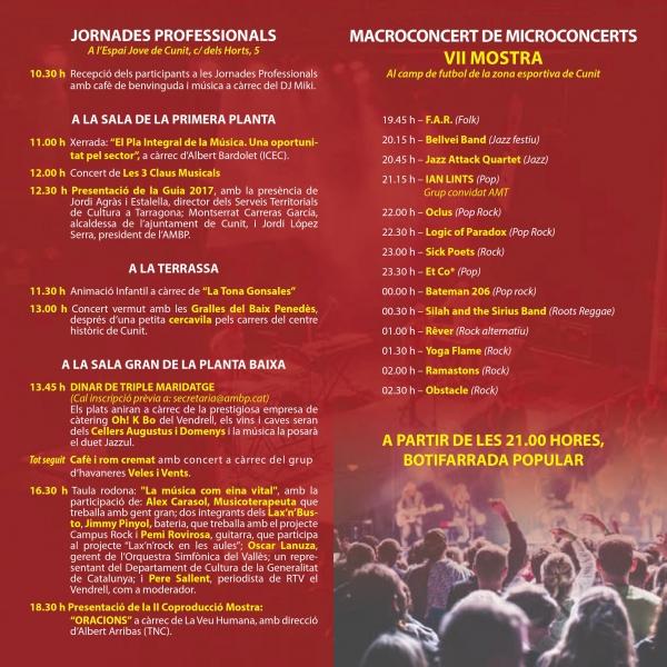 Cartel Setena Mostra de Músics AMBP