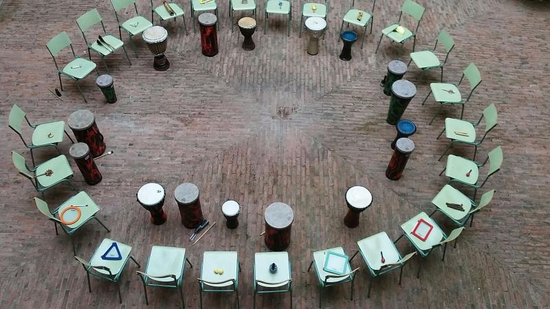 Setting del círculo de percusión