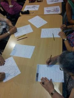Fichas de escritura (completar frases, describir, categorizar,...)