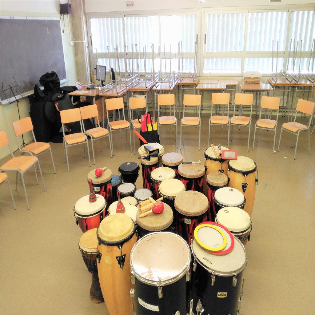 Drum circle en el aula